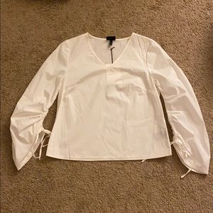 White Who What Wear Blouse